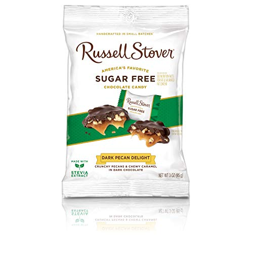 - Russell Stover Sugar Free Dark Chocolate Pecan Delight, 3 Ounce Bag (12 Count)