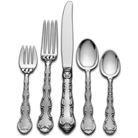 Gorham Strasbourg 5 Piece Sterling Silver Flatware Dinner Set Service For 1