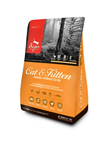 Orijen Dry Cat and Kitten Food, 4 lb