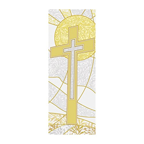 Symbols of the Liturgy Series X-Stand Church Banner for Lent / Easter - Cross, 63 Inch