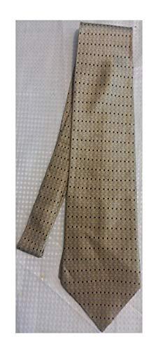 - Stafford Brown, Black, And Silver Silk Necktie