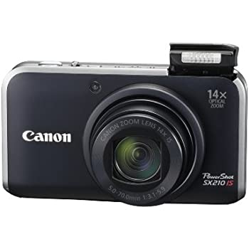 Canon PowerShot SX210IS 14.1 MP Digital Camera with 14x Wide Angle Optical Image Stabilized Zoom and 3.0-Inch LCD - Black (Discontinued by Manufacturer)