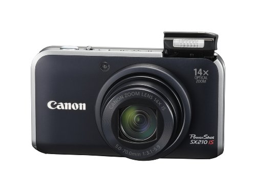 Cheap Canon PowerShot SX210IS 14.1 MP Digital Camera with 14x Wide Angle Optical Image Stabilized Zoom and 3.0-Inch LCD – Black (Discontinued by Manufacturer)