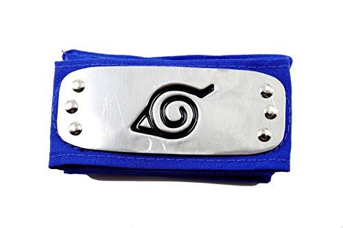 [LYLAS Naruto Konoha Village Ninja Cosplay Headband (blue)] (Konoha Shinobi Costume)