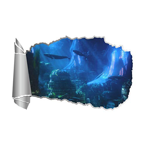 (Mikilon Undersea World Peel Through Wall Sticker Decal Mural Home Decor (Atlantis))