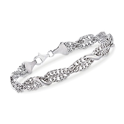 Ross-Simons Italian Sterling Silver Braided Curb-Link and San Marco Station (Italian Sterling Silver Curb)