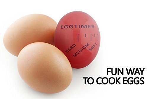 1 Piece Heat Sensitive Hard & Soft Boiled Egg Timer Color Changing Indicator Tells When Eggs Are Ready – Watch Color Change for SOFT, MEDIUM Or HARD BOILED – Super-Reliable Kitchen Tool -Gift