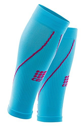 CEP Women's Progressive+ Compression Calf Sleeves 2.0, hawa2 blue/pink, Size III