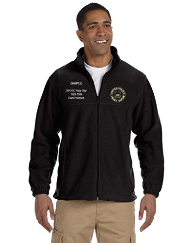 US Coast Guard Personalized Custom Embroidered Full-Zip Fleece - Black Celtic Full Zip Jacket