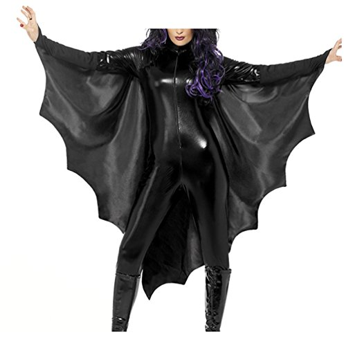 Custom Plus Size Halloween Costumes - Lada Vida Women's Halloween Customs Bat Bodysuit Sexy Catsuit Party Theme XXL Size