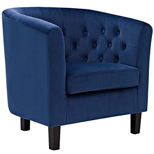 Modway Prospect Upholstered Contemporary Modern Armchair In Navy Velvet