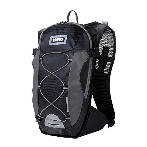 Wag Rucksack 14L mit Trinksystem 1,5l schwarz/grau (Rucksäcke und Taschen)/Backpack 14L with Water Bag 1,5l Black/Gray (Backpacks and Bags)