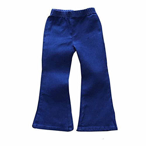 Mary ye Baby Girls Jeans Outfit Kids Bell Elastic Blue Pants - Flare Kids