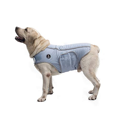 X@HE Comfort Dog Anxiety Relief Coat, Dog Anxiety Calming Vest Wrap,Thunder Shirts Jacket for XS Small Medium Large XL Dogs,Blue Grey,XL