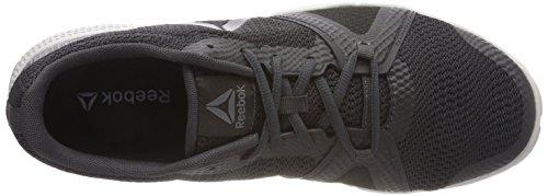 Clair black Chaussures gris Noir coal Flexile alloy Grey blanc De Reebok skull Homme Gris 000 turquoise Fitness nYw75fqg