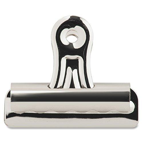 Sparco Bulldog Clip, 11/32-Inch Cap, Size 2, 2-1/4-Inch, 36 per Box, Silver (SPR58501) (3 Bulldog Clip)