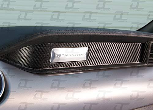 - Decal Concepts Carbon fiber Passenger Dash Trim Decal Accent Kit - (Fits Mustang 2015-2019) (Black Carbon Fiber)