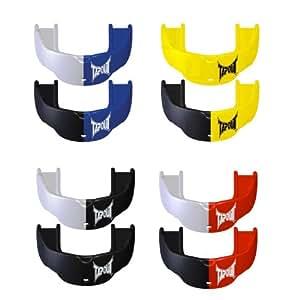 Protector bucal de goma (pack de 2) TAPOUT MMA, rojo/blanco y rojo/negro