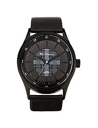 Ben Sherman BS030 Black Faux Leather Wrist Watch