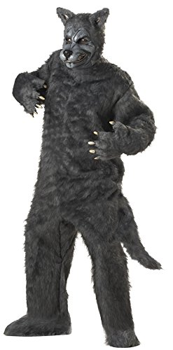 California Costumes Men's Plus-Size Big Bad Wolf Costume In Plus, Gray, Plus Size
