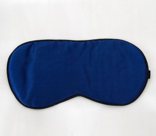 The Wolf Moon® Natural Silk Sleep Eye Mask & Eye Pillow for Dry-eye Sufferers, Super-smooth Eye Shades for Sleeping & Travel Anywhere Anytime BLUE (Shade Wolf)