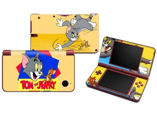 TOM and Jerry Protective Decals Vinyl Skin Sticker for Nintendo NDSI XL LL