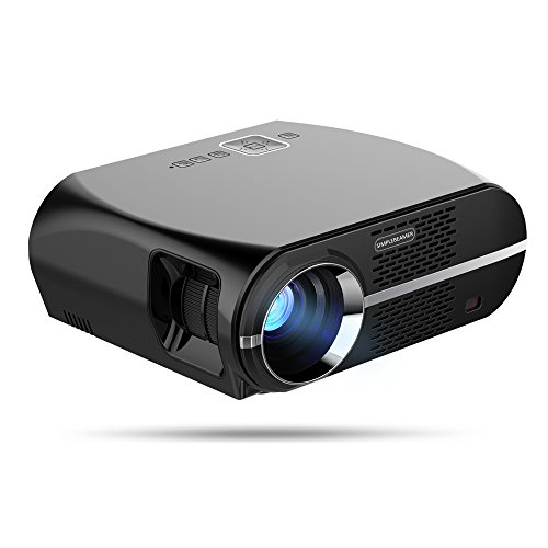 OMZER Portable LCD Projector With 3200 Luminous 1280x800 Native Resolution Video Max 180' Theater Video Projector Support 1080P HDMI USB VGA AV Audio Out for Home Movie Video Games Backyard Cinema