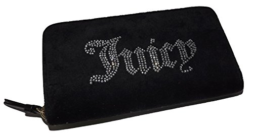 Juicy Couture Designer Purses - Juicy Couture Women's Zip Around Credit Card Clutch Wallet Black