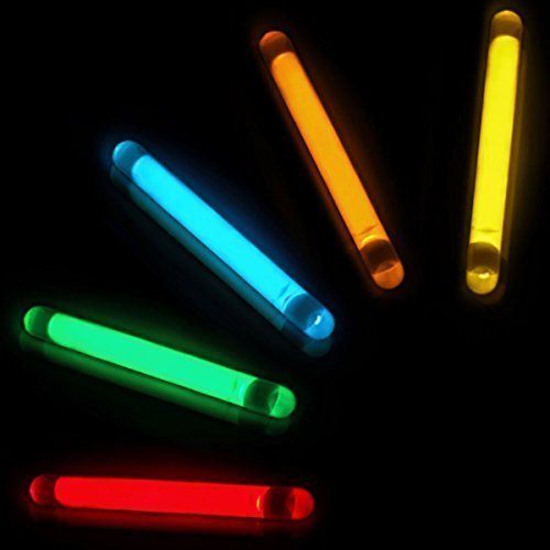 GiftExpress 100 Pcs Small Assorted Color Glow Sticks Bulk, Mini Glow Sticks, Fishing Floats Perfect for Easter Egg Stuffer, Zombie Party, Easter Egg Hunt and Glow in The Dark Party ()