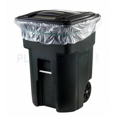 Plasticplace 95 Gallon Clear Trash Bags, 25 Count