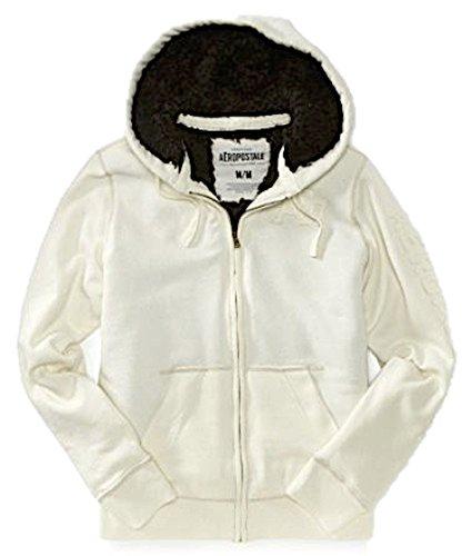 Fur Hoodie Cream (Aeropostale Mens Fur Lined Hoodie Jacket X-Small Cream)