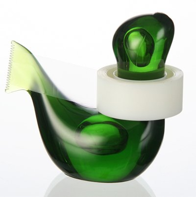 (German Design) Felli -Seal Tape Dispenser. Sea lion shape, cute gift.(green)