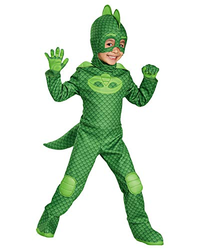 Gekko Deluxe Toddler PJ Masks Costume, Medium/3T-4T
