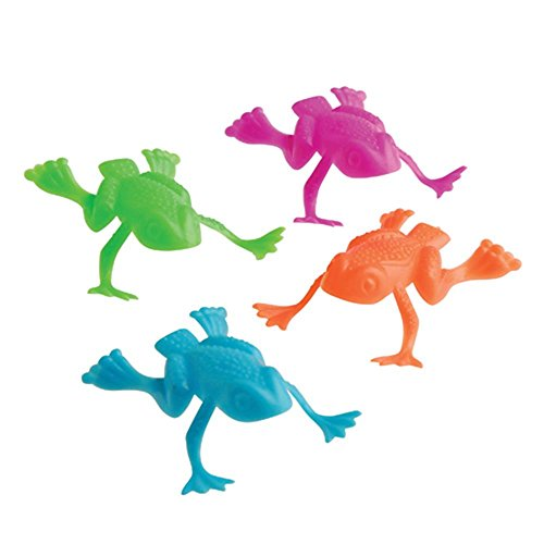 US Toy Jumping Frog Toy (Lot of 36), Assorted Color]()