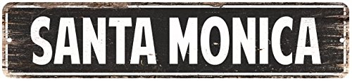 (Chico Creek Signs Santa Monica Vintage Look Personalized Metal Sign Chic 4x18)
