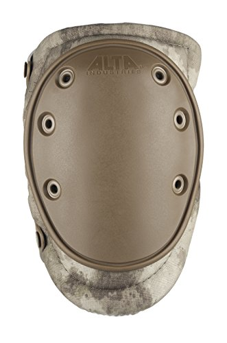 ALTA 50453.18 AltaFLEX Gel Insert Heavy Duty Knee Protector Pad, A-TACS Cordura Nylon Fabric, AltaLOK Fastening, Flexible Cap, Long, Coyote