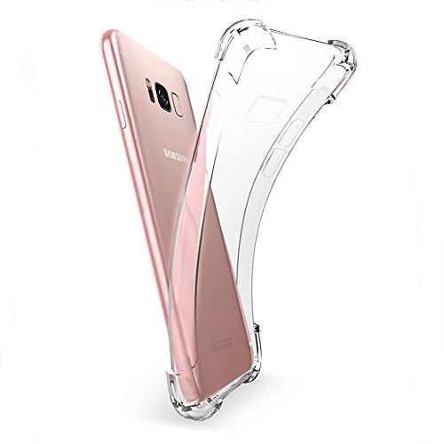 Coque Samsung Galaxy Note8, MSVII® Air-Cushion Design TPU Souple Transparent Coque Etui Housse Case et Protecteur écran Pour Samsung Galaxy Note8 JY70030