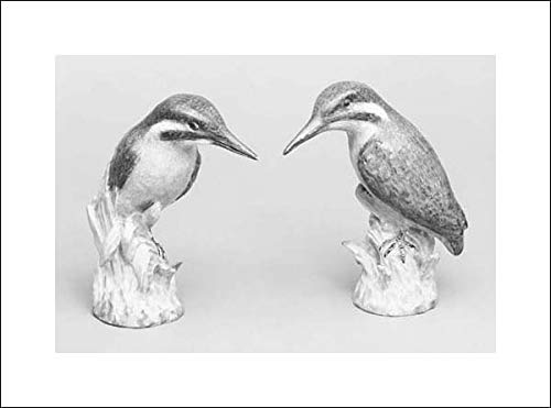 Royal Porcelain Manufactory, Berlin - 20x14 Art Print by Museum Prints - Pair of icebirds