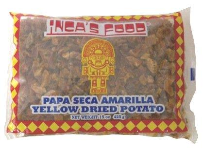 Incas Food Papa Seca Amarilla/Yellow Dried Potato 15oz (425g Single Bag) - Product of Peru