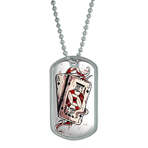 Chrome Plated Metal Small Pet Id Dog Cat Tag Zodiac: Compare Price: Ace Of Spades Dog Tag