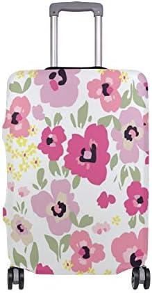 (ソレソレ)スーツケースカバー 防水 伸縮素材 キャリーカバー ラゲッジカバー 花柄 ピンク 可愛い はな かわいい 可愛い おしゃれ 防塵 旅行 出張 便利 S M L XLサイズ