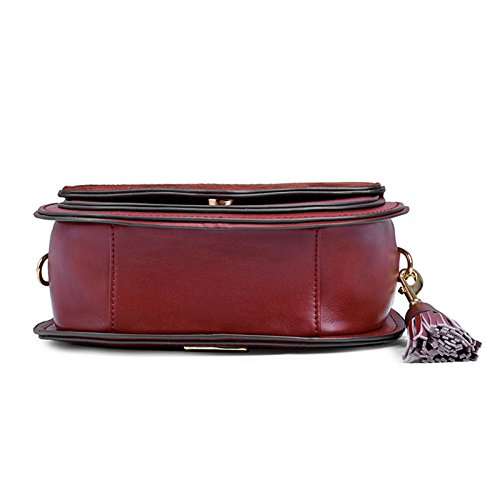 Women's Bags Fashion Women's Bags Bags Casual Redwine Bags Cowhide Bags First Shoulder Layer PU Leather rrqdpfxC