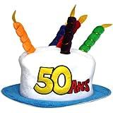 Chapeau Age 50 adulte - Taille Unique