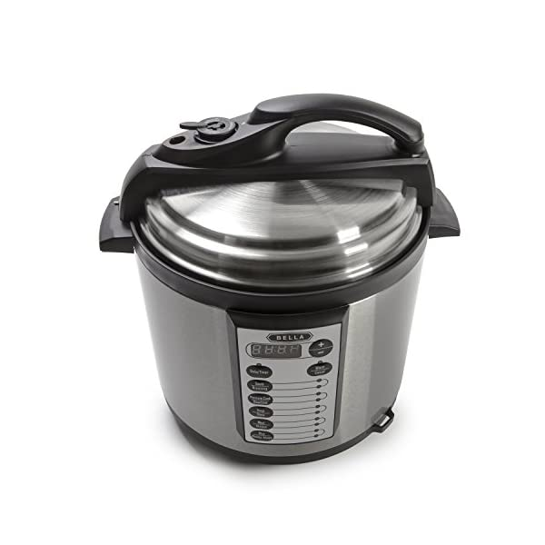 BELLA 10-In-1 Multi-Use Programmable Pressure Cooker, Slow Cooker, Rice Cooker, Steamer, Sauté Warmer with Searing and… 2