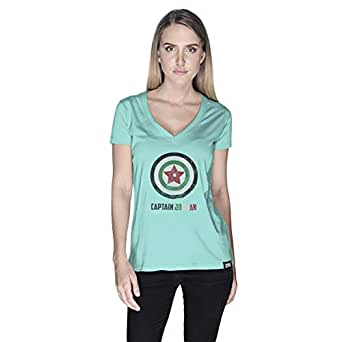 Creo Captain Jordan Superhero T-Shirt For Women - M, Green