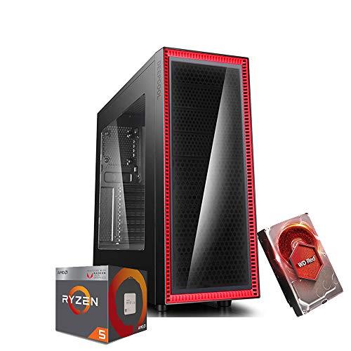 Pc gaming Cpu Ryzen 5 2400G 3.90 Ghz Turbo,Hdd 1000Gb,Ram 8Gb Ddr4,450w 80 Plus Bronze,Wi Fi 300Mbps,Computer Gaming,Windows 10 Professional