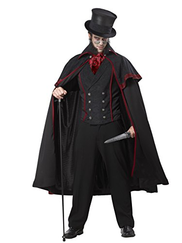 California Costumes Jack The Ripper Set, Black/Red, -