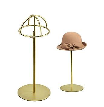 Metal Tabletop Hat Rack / Wig Storage Holder Display Stand Holder (Matte  Gold)