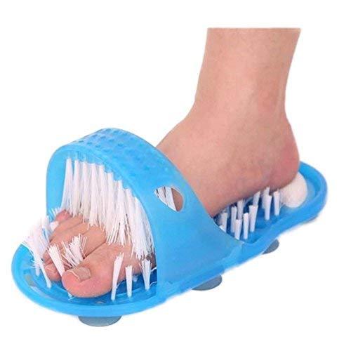 1 STÜCKE Dusche Fuß Füße Reiniger Scrubber Waschmaschine Fuß Gesundheits Haushalt Badezimmer Stein Massager Pantoffel Blau Lovelysunshiny
