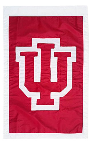 University of Indiana - 28'' x 44'' Double Sided Appliqued NCAA Banner